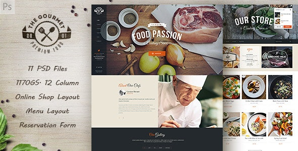Gourmet - Food & Restaurant PSD Template - Food Retail