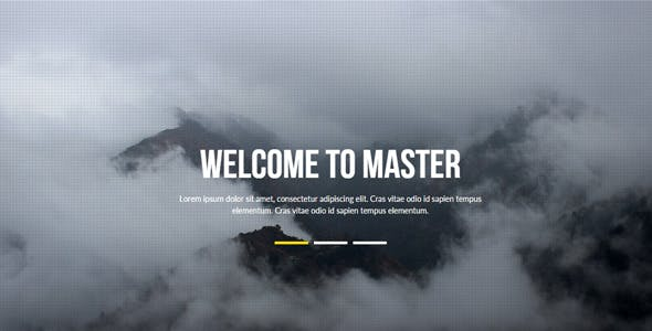 Master - Multipurpose Muse Template