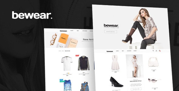 Bewear - Lookbook Style eCommerce PSD Template - Fashion Retail