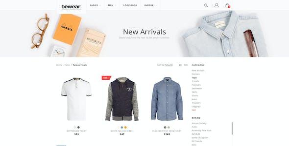 Bewear - Lookbook Style eCommerce PSD Template