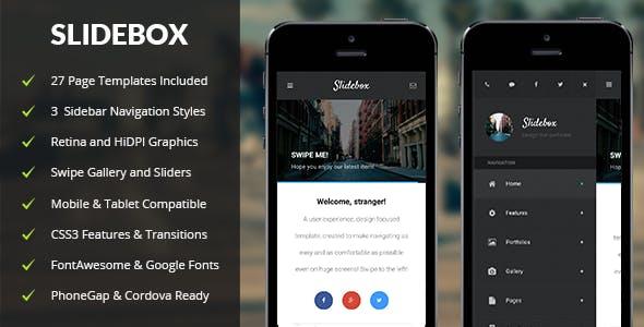 Swipe HTML Mobile Website Templates from ThemeForest