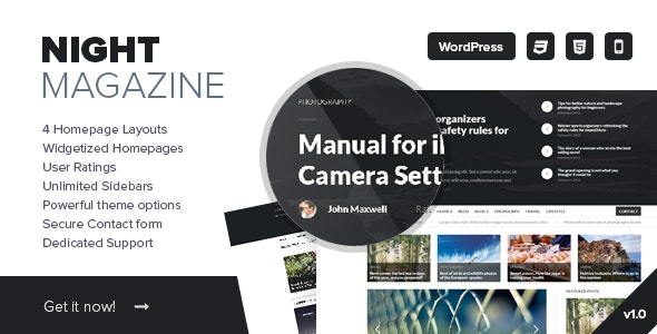 Night - WordPress News and Magazine Theme - Blog / Magazine WordPress