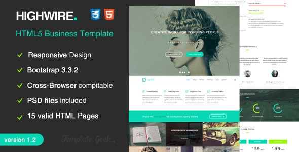 Highwire - HTML5 Responsive Business Template - Business Corporate