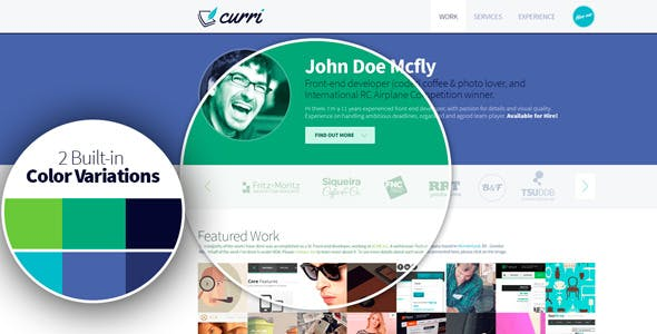 Curri Retina Ready CV Template