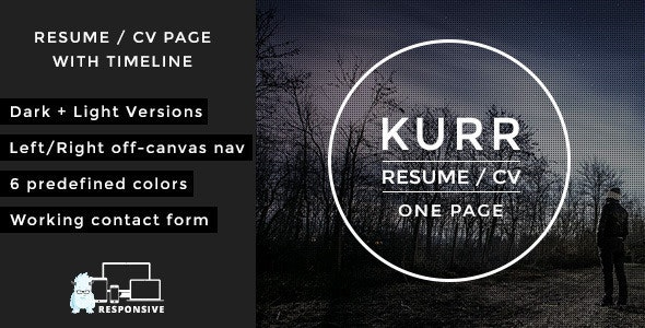Kurr - Personal Resume and Portfolio Theme - Portfolio Creative