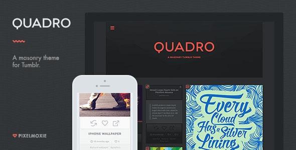 Quadro - A Masonry Theme for Tumblr - Blog Tumblr