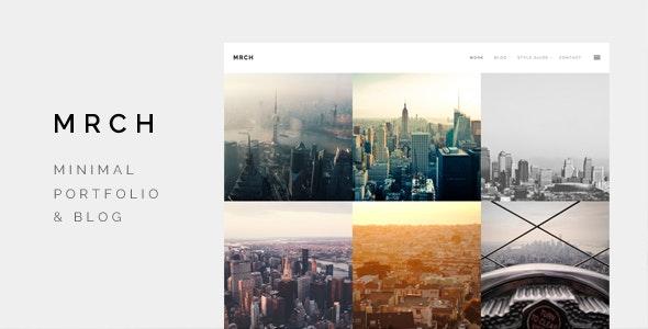 March - Minimal Portfolio & Blog theme - Creative WordPress