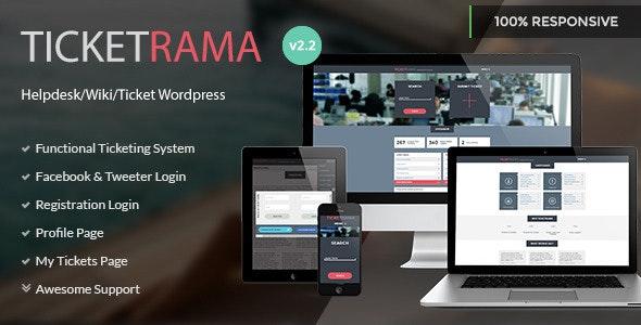 Ticketrama - Wordpress Helpdesk   Ticket   Support - Software Technology