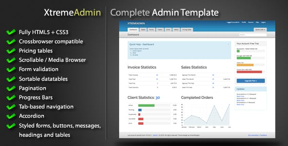 Datatable Templates from ThemeForest