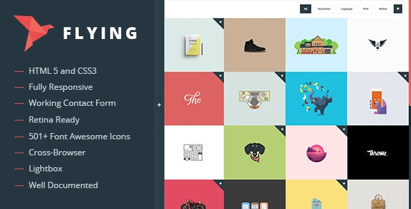 Flying - Interactive Template Portfolio - Portfolio Creative