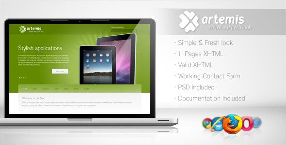 Artemis - Simple and Fresh Template - Corporate Site Templates
