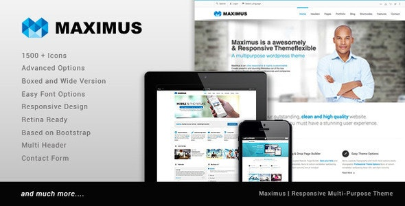 Maximus -  Multipurpose Business Template - Business Corporate
