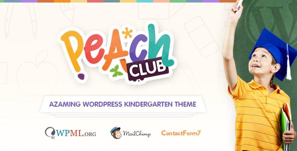PeachClub | Kindergarten ChildCare WordPress Theme - Education WordPress