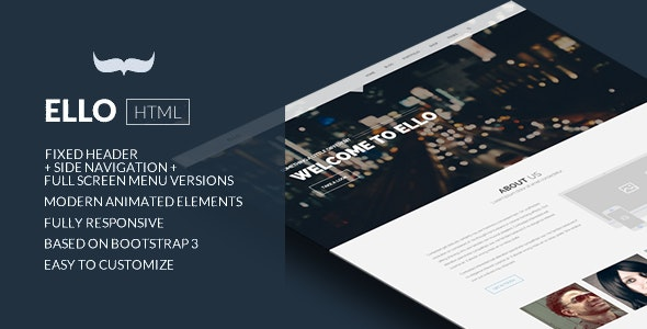 Ello - Responsive Bold Multipage/Onepage Template - Business Corporate