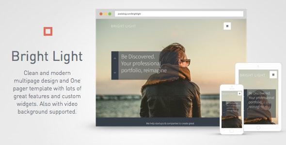 Bright Light Multipurpose Creative Template One Pager & Multipage - Creative Muse Templates