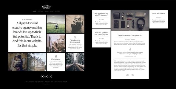 Bleecker Portfolio Joomla Template - Photography Creative