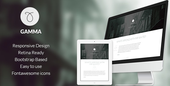 Gamma - Responsive Bootstrap Ghost theme - Ghost Themes Blogging