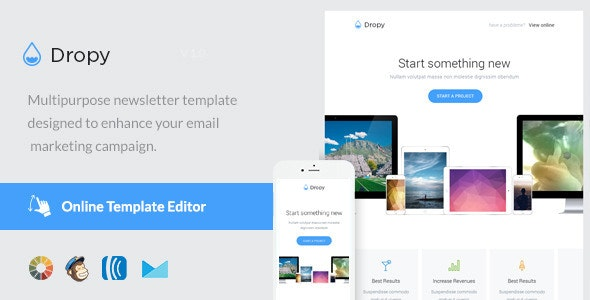 Dropy - Email Template + Online Editor - Email Templates Marketing