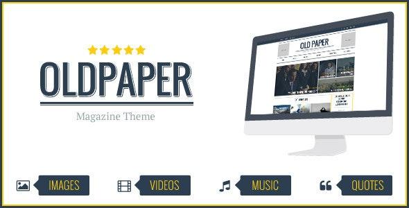 OldPaper - Ultimate Magazine & Blog Theme - News / Editorial Blog / Magazine