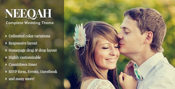 Neeqah - Wedding WordPress Theme - Wedding WordPress