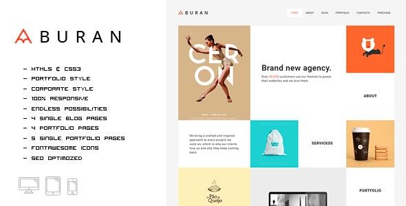 Buran - Smart Portfolio and Business HTML Template - Portfolio Creative