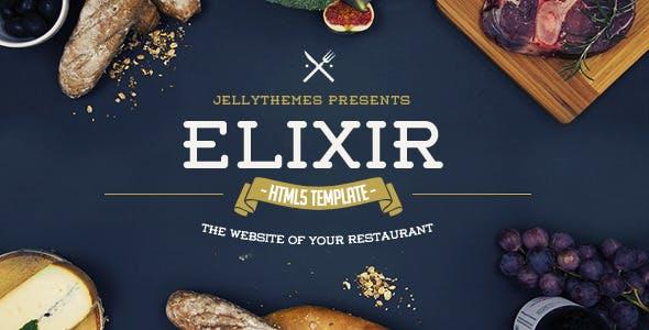 Elixir - Restaurant HTML Responsive Template