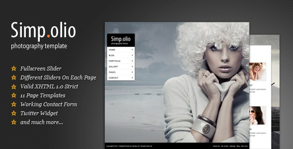 Simpolio - Fullscreen Portfolio & Blog HTML Theme - Photography Creative