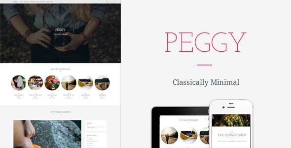 Peggy - A Responsive WordPress Blog Theme - Personal Blog / Magazine