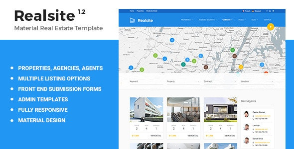 Realsite - Material Real Estate Template - Business Corporate