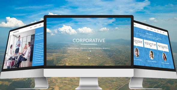 Corporative - One Page Parallax Muse Template - Corporate Muse Templates