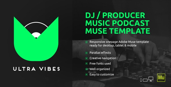 Ultra Vibes - DJ / Producer Podcast Muse Template by vinyljunkie