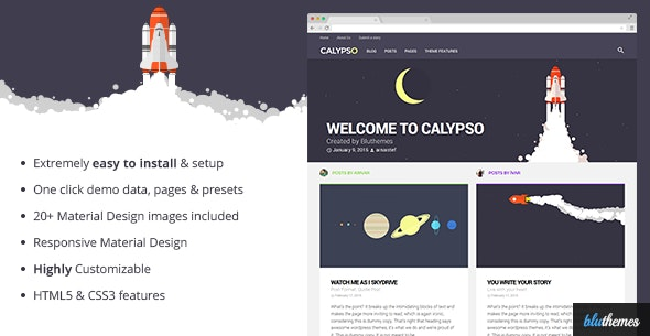 Calypso | Material Design WordPress Theme by bluthemes_ | ThemeForest