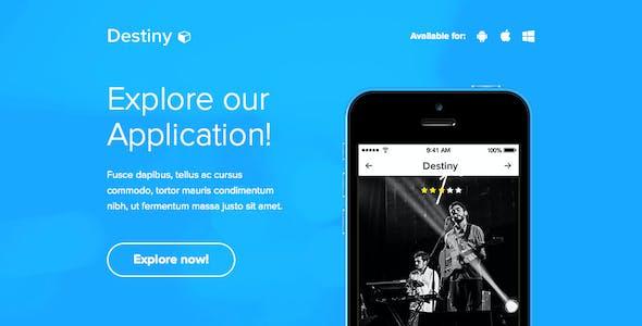 Destiny - Responsive Email + Themebuilder Access
