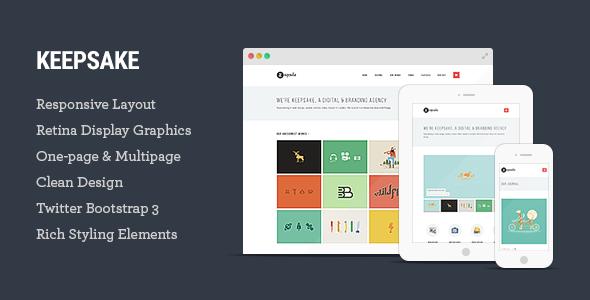 Keepsake - Multipurpose Single/Multi-page Template - Creative Site Templates