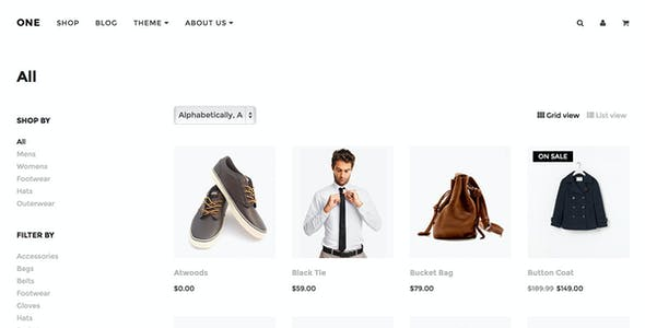 ONE - A multi-use responsive Shopify theme