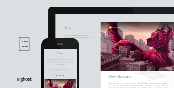 Eston - A Simple Notebook Theme - Ghost Themes Blogging