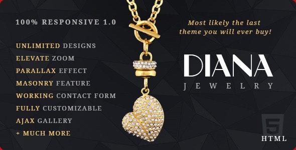 Diana e-Commerce HTML Template - Retail Site Templates