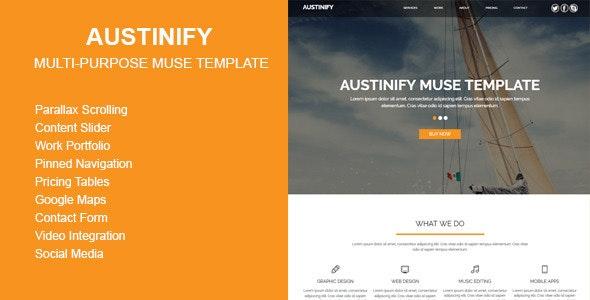 Austinify - Multi-purpose Muse Template - Corporate Muse Templates