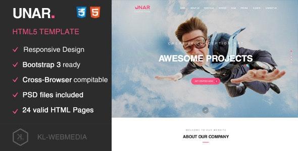 Unar - Creative HTML5 Template - Creative Site Templates