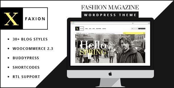 Faxion - Fashion Magazine Theme - News / Editorial Blog / Magazine