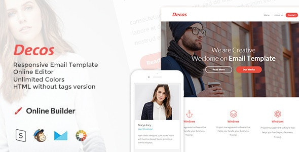 Decos - Responsive Email and Newsletter Template - Email Templates Marketing