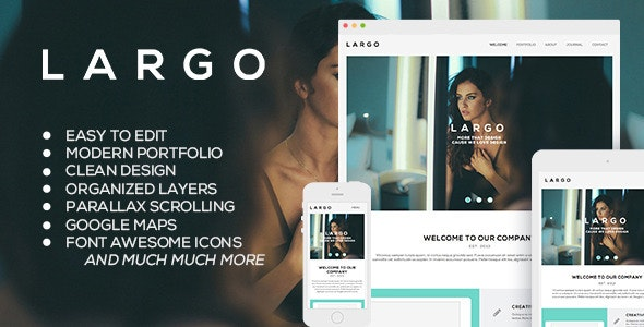 Largo - Modern Muse Template - Corporate Muse Templates