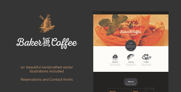 Baker & Coffee HTML Template - Restaurants & Cafes Entertainment