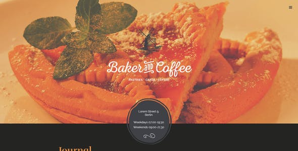 Baker & Coffee HTML Template