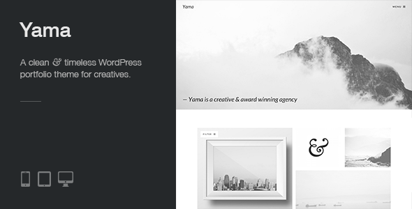 Yama: a clean, responsive and minimal WP portfolio theme with a strong focus on beautiful typography - Portfolio Creative