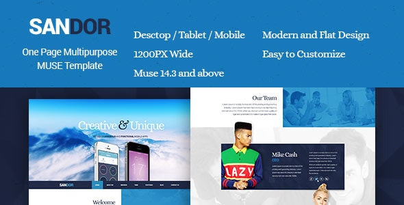 Sandor - Creative Multipurpose Muse Template - Creative Muse Templates