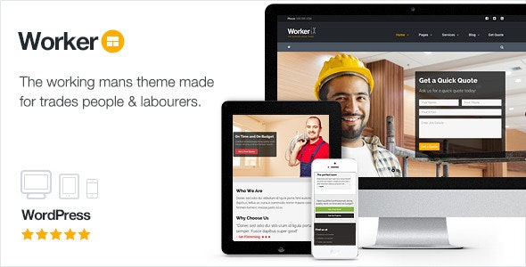Worker - The Working Mans WordPress Theme - Miscellaneous WordPress
