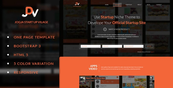 JDV - Responsive Parallax One Page HTML5 Template - Corporate Site Templates