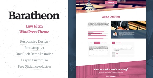 Baratheon - Law Firm WordPress Theme - Business Corporate