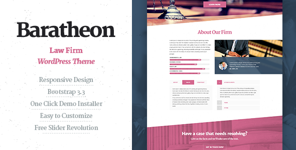 Baratheon - Law Firm WordPress Theme - Business Corporate